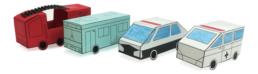 【ピクニックボックス 応用編 まちへいこう】8_消防車・バス・パトカー・救急車