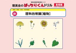 081 ばっちりくんドリル 理科的常識[植物](基礎編)